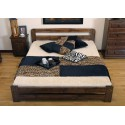 łóżko drewniane ze stelażem LIDIA orzech