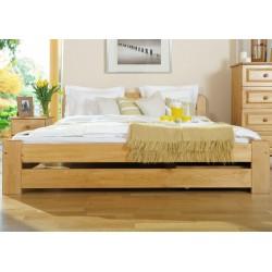łóżko drewniane ze stelażem LIDIA olcha