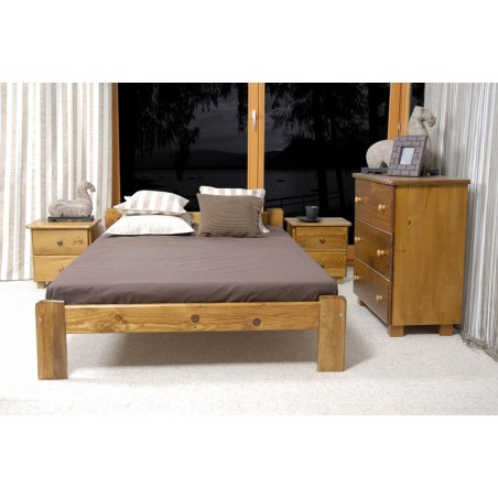 łóżko CELINKA 140x200 dąb