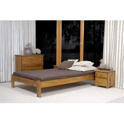 łóżko drewniane ze stelażem CELINKA dąb