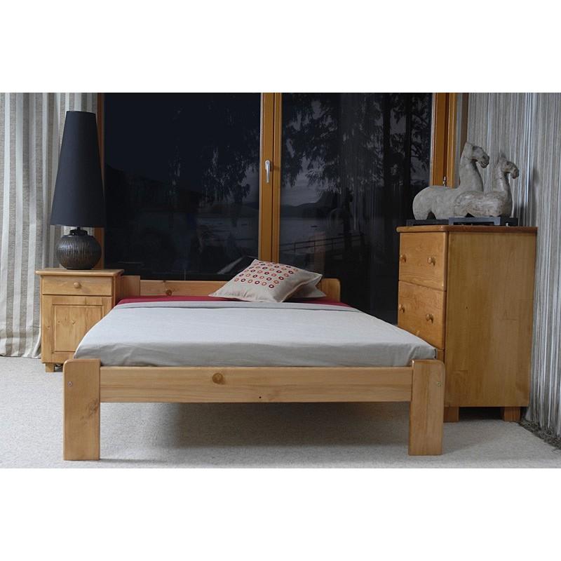łóżko drewniane ze stelażem CELINKA olcha