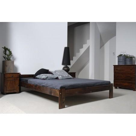 łóżko drewniane ze stelażem CELINKA orzech