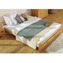 łóżko drewniane ze stelażem NIWA olcha