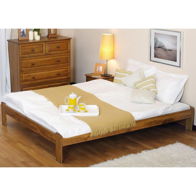 łóżko drewniane ze stelażem ADA dąb