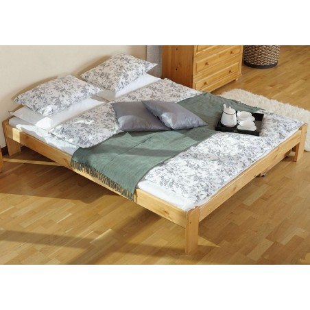 łóżko drewniane ze stelażem ADA olcha