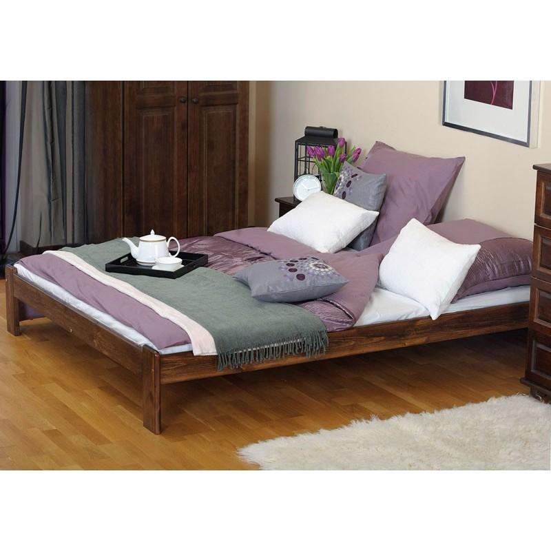 łóżko drewniane ze stelażem ADA orzech