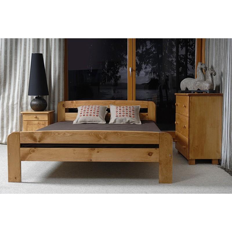 łóżko drewniane ze stelażem klaudia olcha