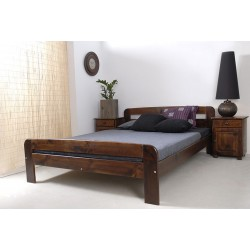 łóżko drewniane ze stelażem KLAUDIA orzech