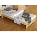 łóżko drewniane ze stelażem NIWA sosna