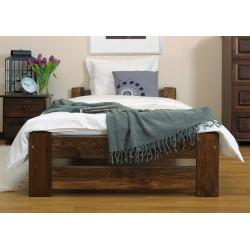 łóżko drewniane ze stelażem NIWA orzech