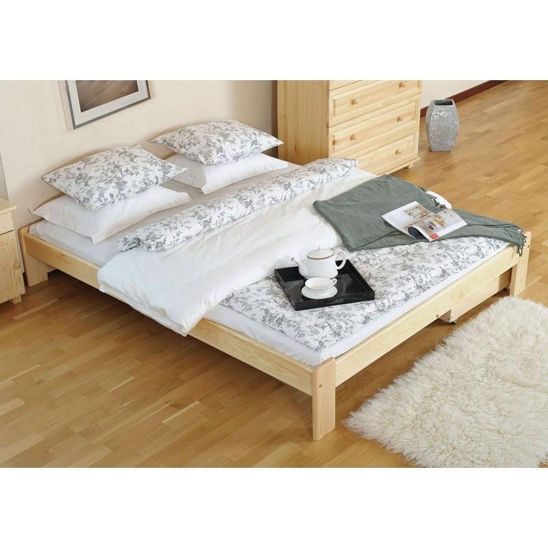 łóżko drewniane ze stelażem ADA sosna