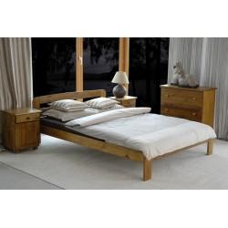 łóżko drewniane ze stelażem SARA dąb