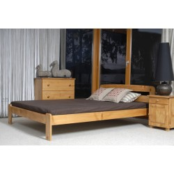 łóżko drewniane ze stelażem SARA olcha