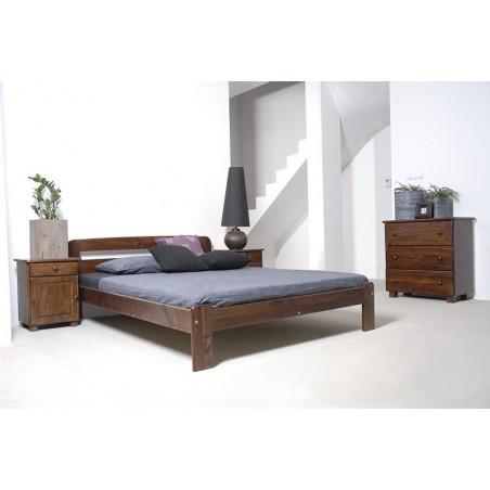 łóżko SARA 140x200 orzech