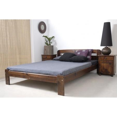 łóżko drewniane ze stelażem SARA orzech