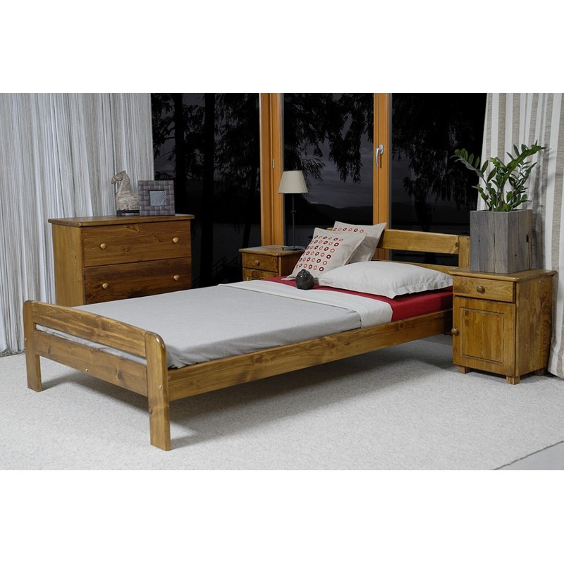 łóżko drewniane ze stelażem klaudia dąb