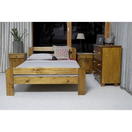 łóżko KLAUDIA 120x200 dąb
