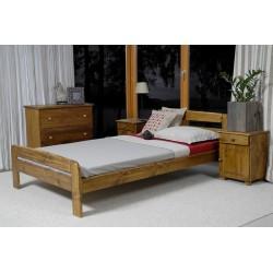 łóżko KLAUDIA 160x200 dąb