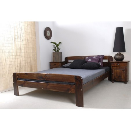 łóżko KLAUDIA 140x200 orzech