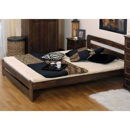łóżko LIDIA 140x200 orzech