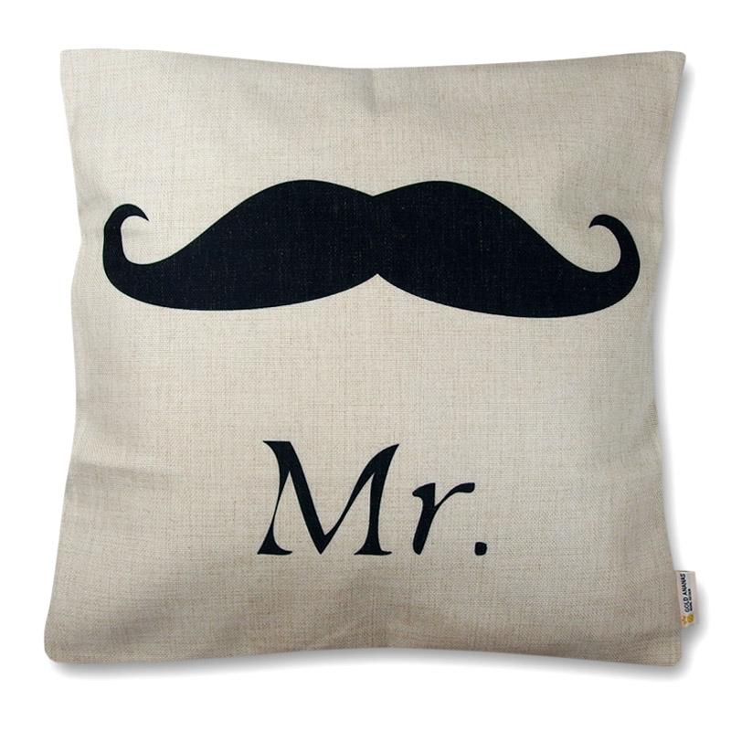 poszewka dekoracyjna na poduszkę 45x45 Mr. Wąsy