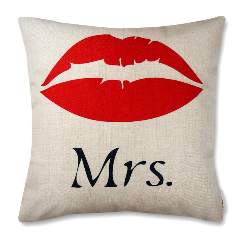 poszewka dekoracyjna na poduszkę 45x45 Mrs. Usta