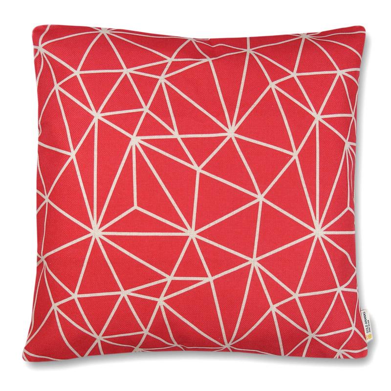 poszewka dekoracyjna na poduszkę 45x45 Sieć Malinowe tło